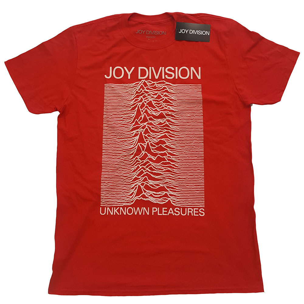 Joy Division - Unknown Pleasures White On Red