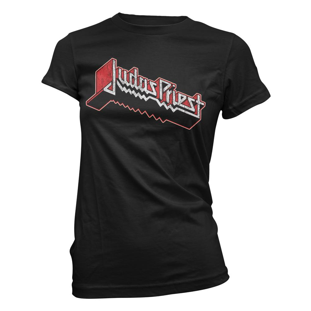 Judas Priest - Corroded Logo Womens Tee
