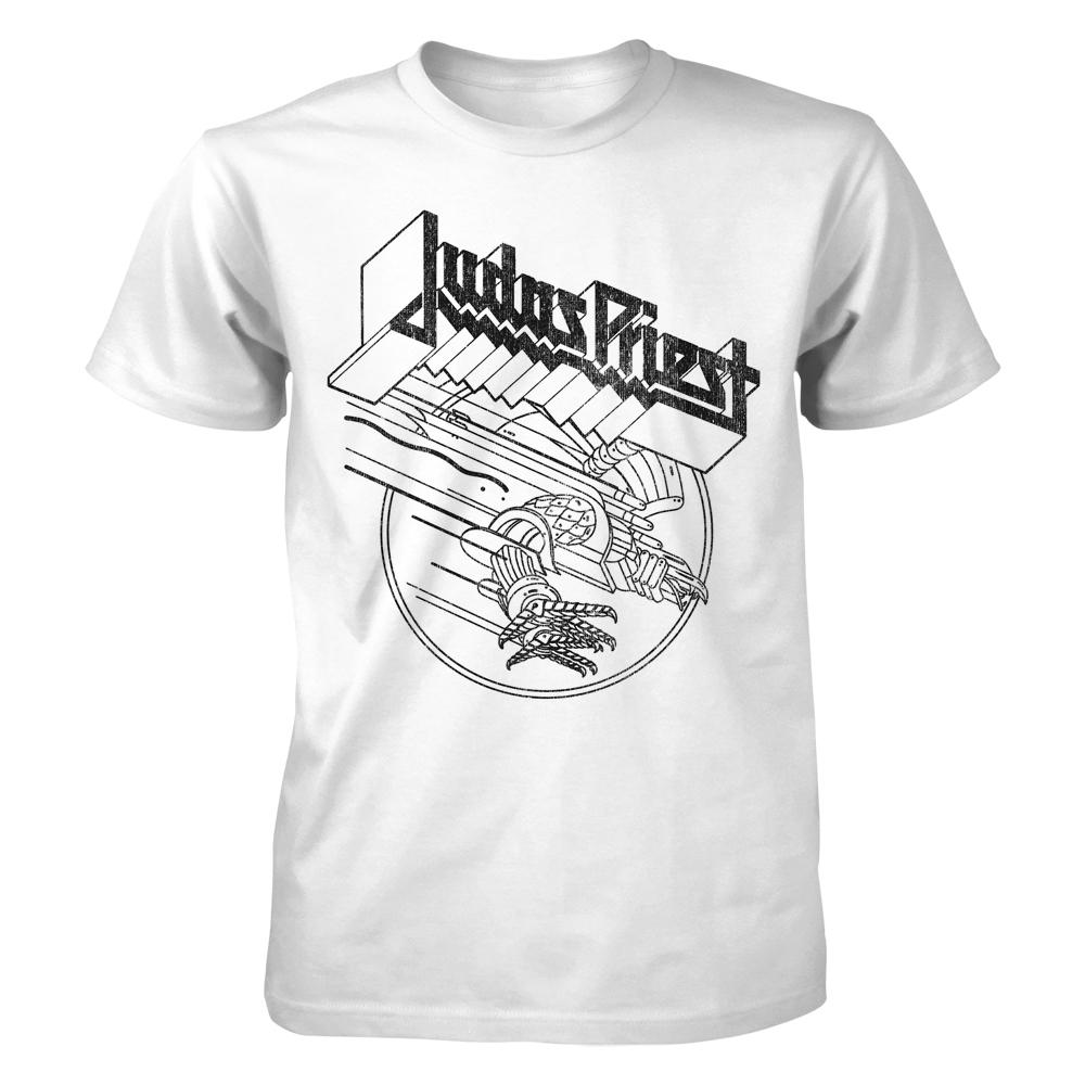 Judas Priest - Screaming Eagle White T-Shirt