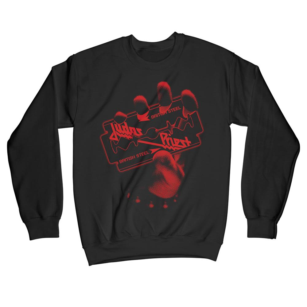 Judas Priest - British Steel Red Bitmap Sweater