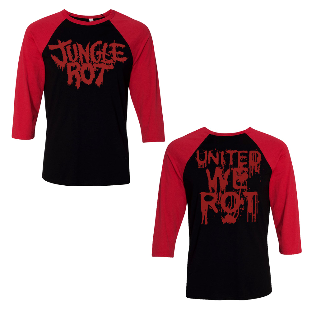 Jungle Rot -  United We Rot (Baseball T-Shirt)