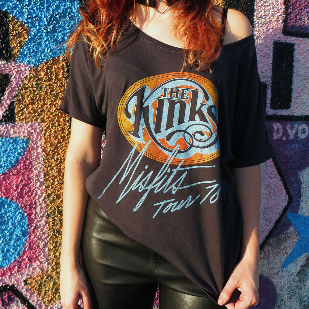 The Kinks - Misfits Tour Vintage USA 1978 Slouch (Charcoal)