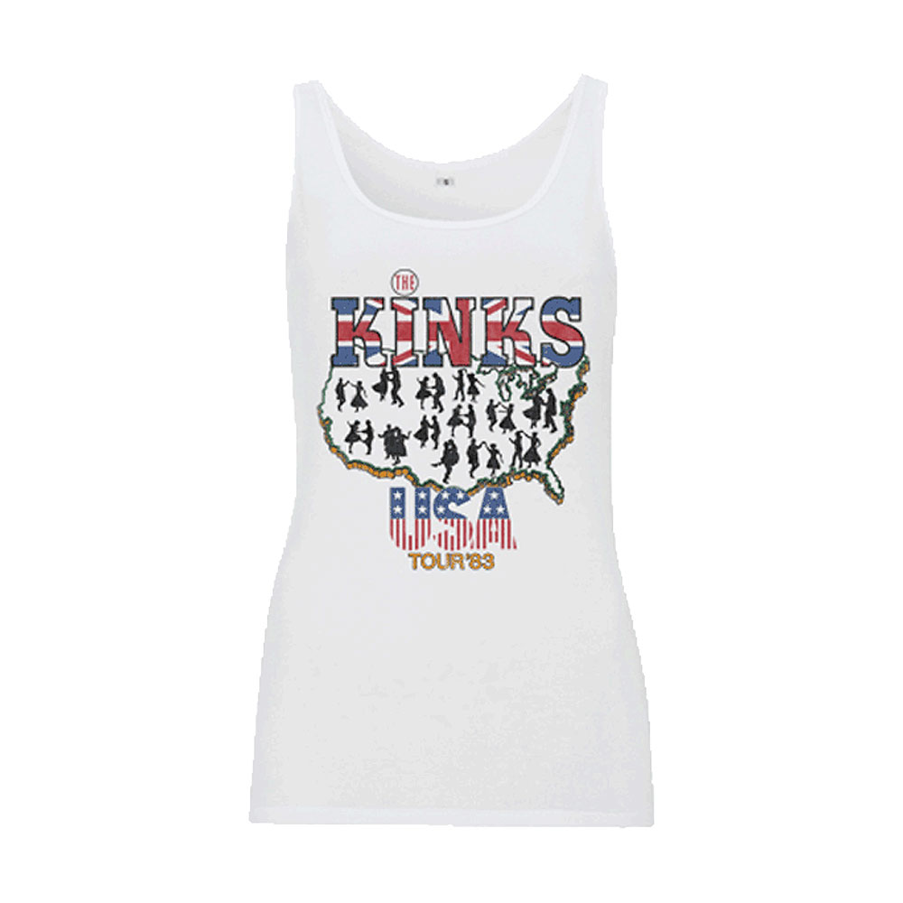 The Kinks - Vintage USA Tour 1983 (White)