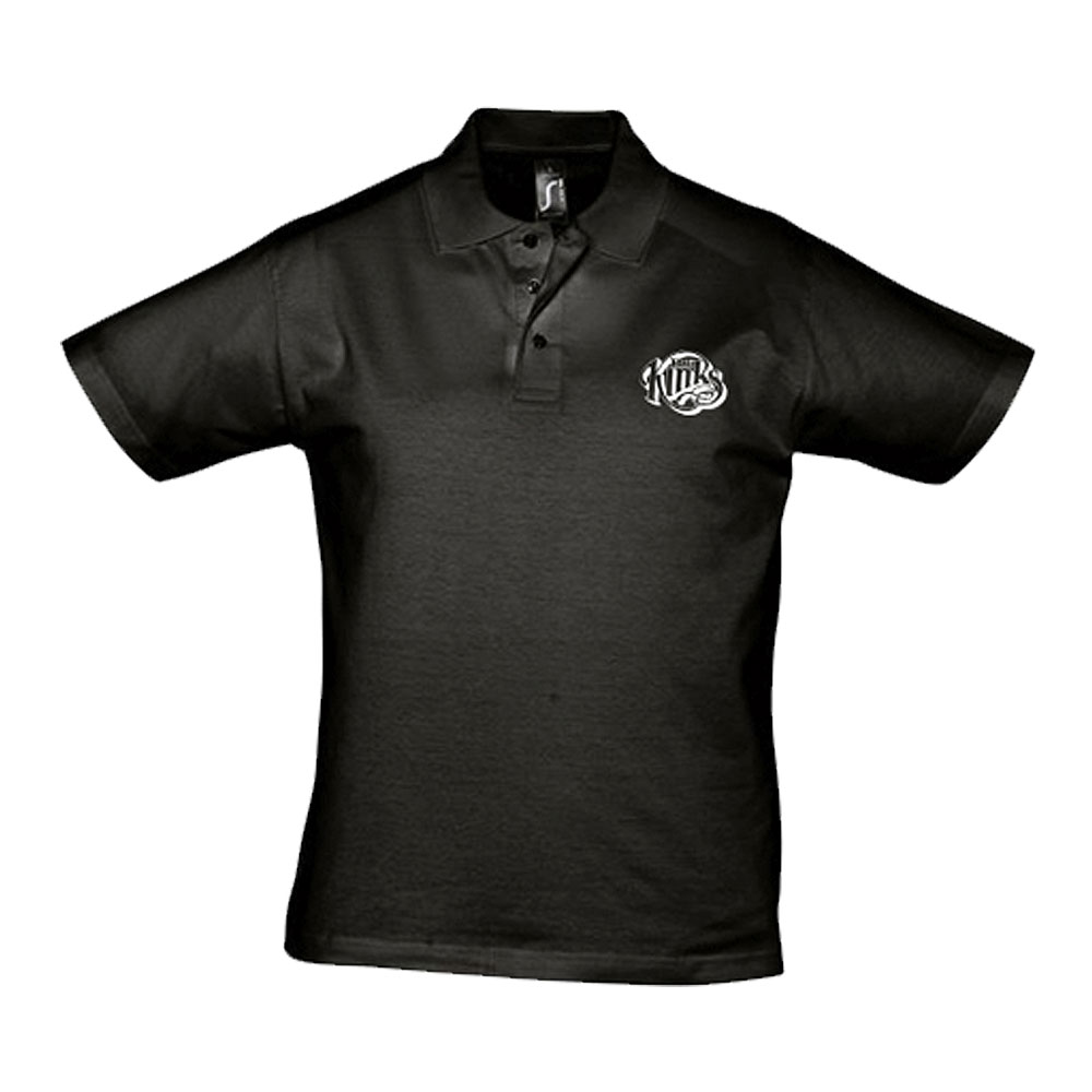 The Kinks - Kinks Logo Jersey Polo Shirt (Black)