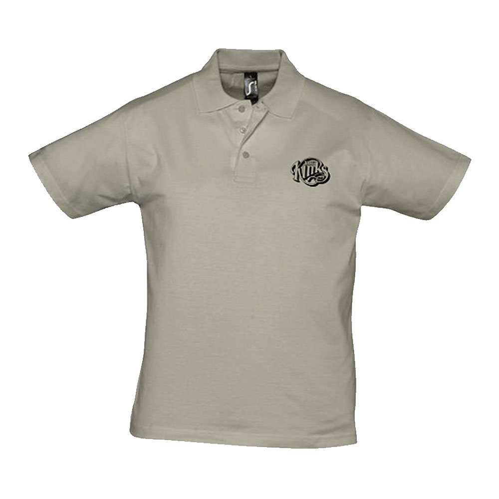 The Kinks - Kinks Logo Jersey Polo Shirt (Khaki)