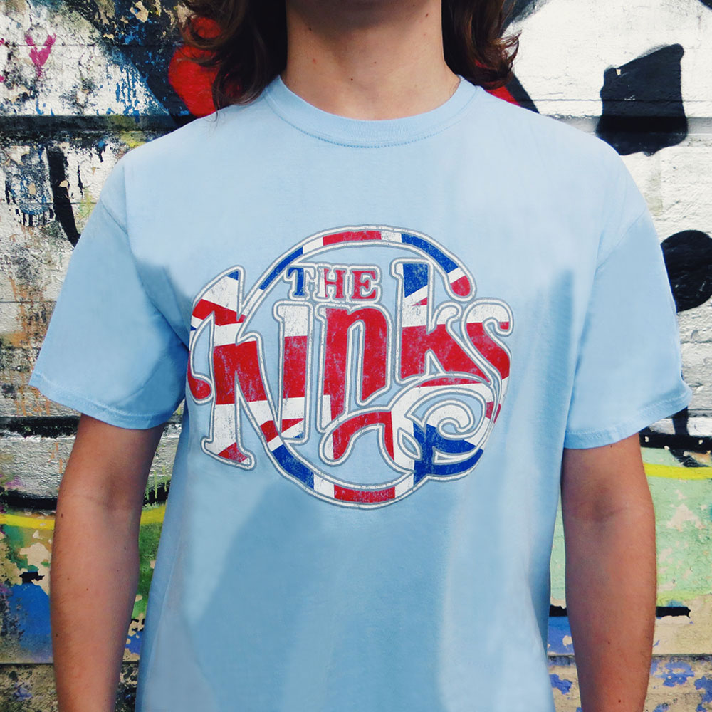 The Kinks - Union Jack Logo (Light Blue)