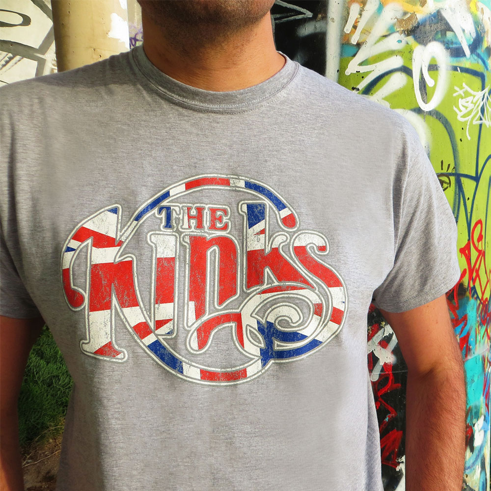 The Kinks - Union Jack Logo (Grey)
