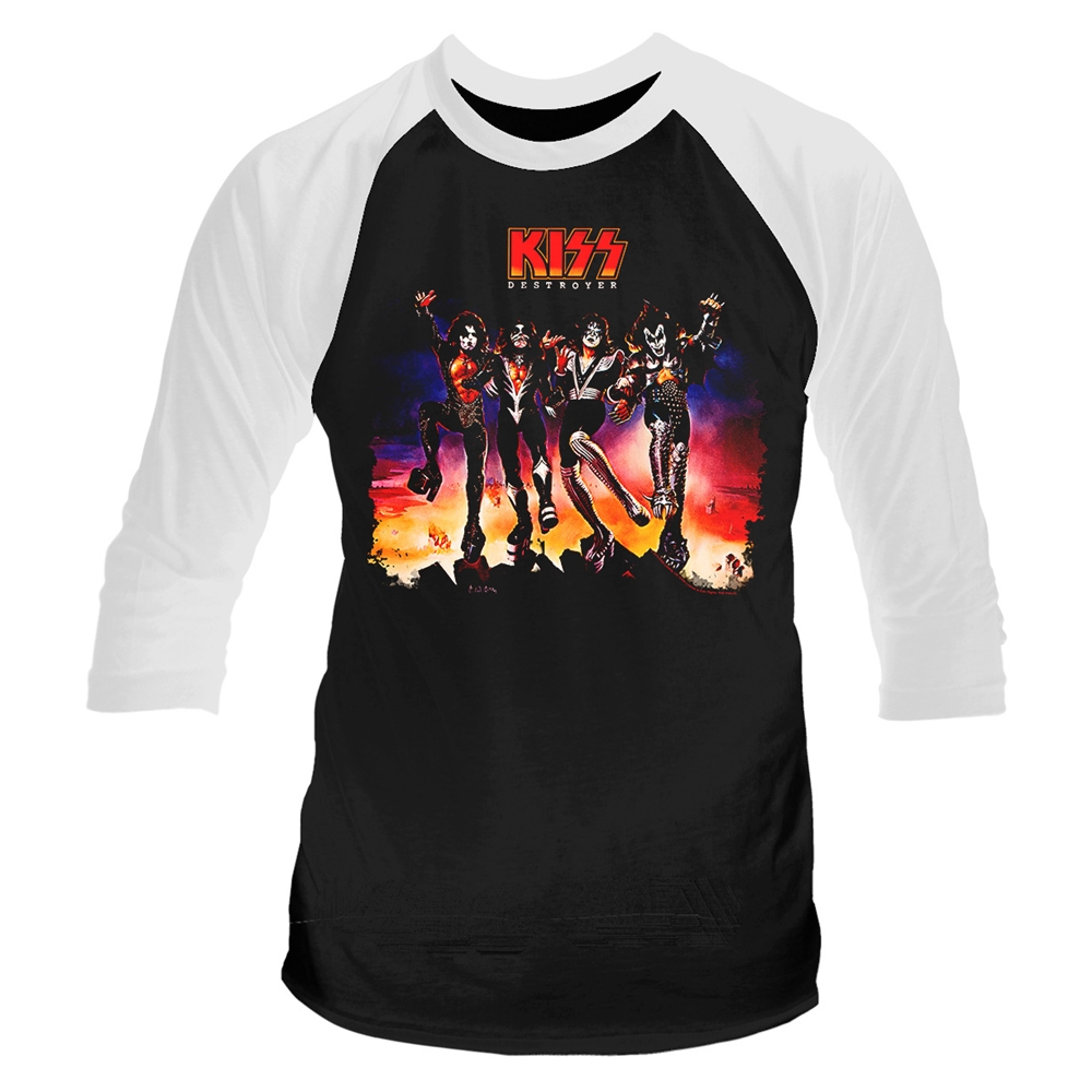 Kiss - Destroyer (Baseball Shirt)