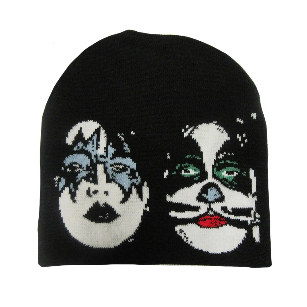 Black knitted ski hat with Kiss -Dynasty c06c0e6229c0