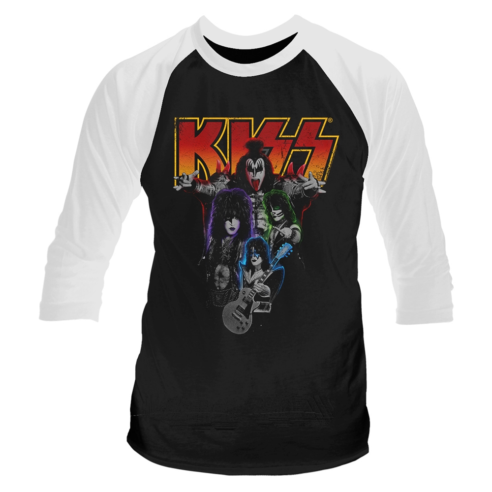 Kiss - Neon Band (Baseball Shirt)