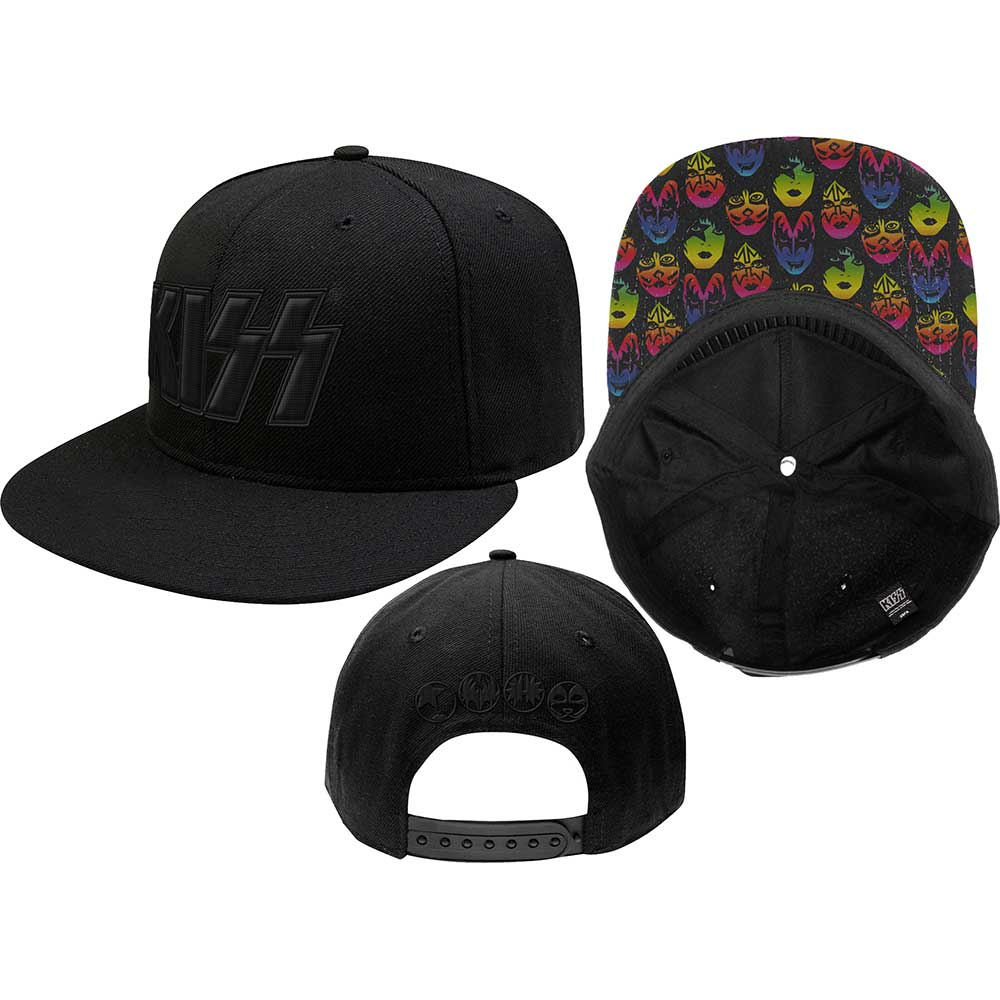 Kiss - Neon Faces ( Black Snap Back)