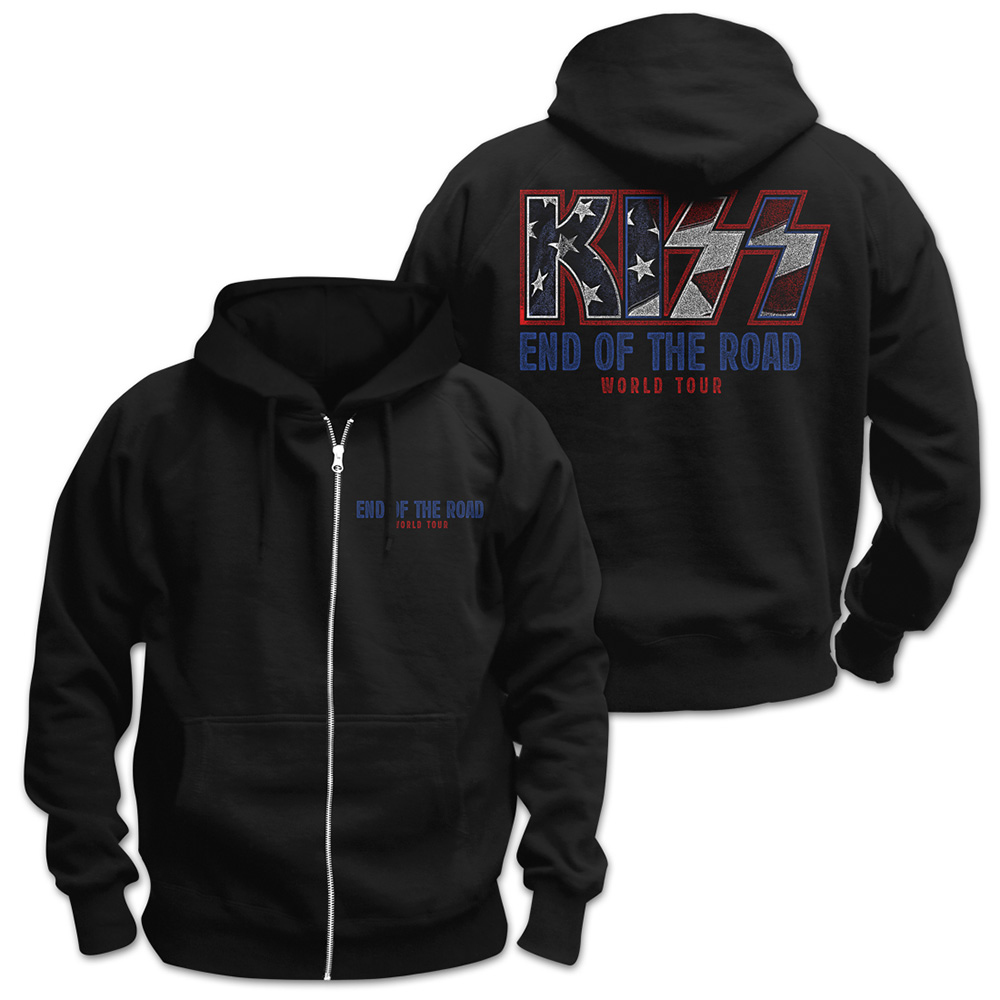 Kiss - End of the Road World Tour (Zip Hoodie)
