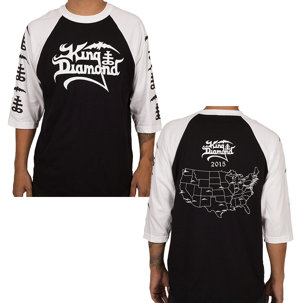 King Diamond - USA 2015 Tour (Baseball T-Shirt)