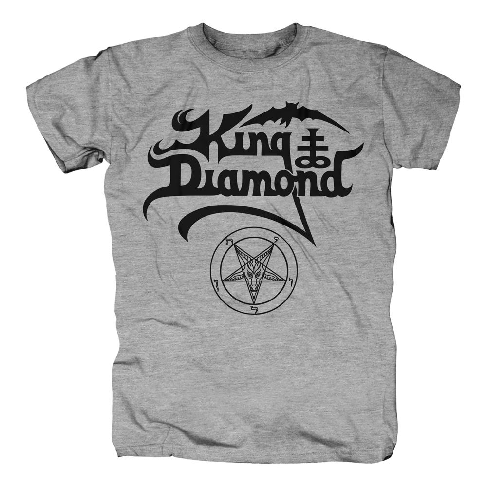 King Diamond - Black Logo (Grey)