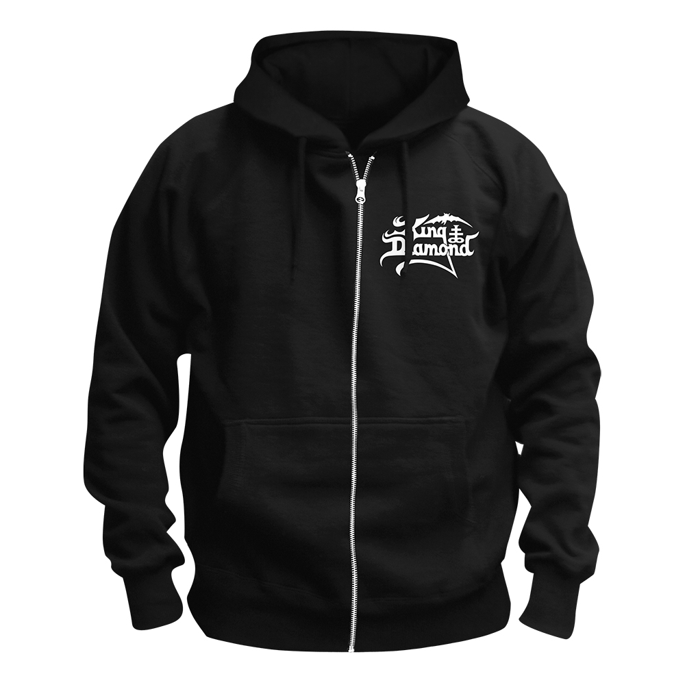 King Diamond - White Logo (Zip Hoodie)