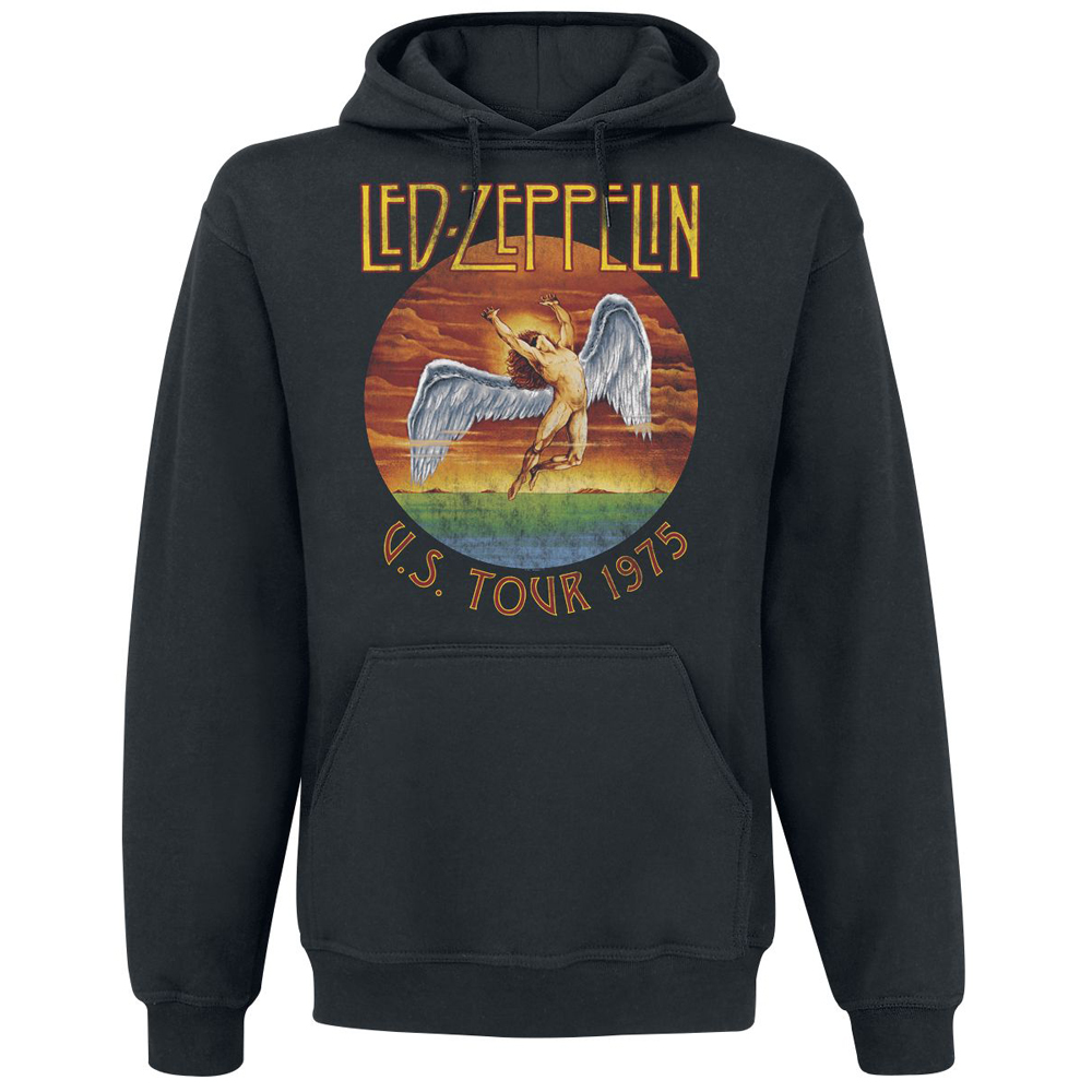 Led Zeppelin - USA Tour 1975 (Black Pullover Hood)