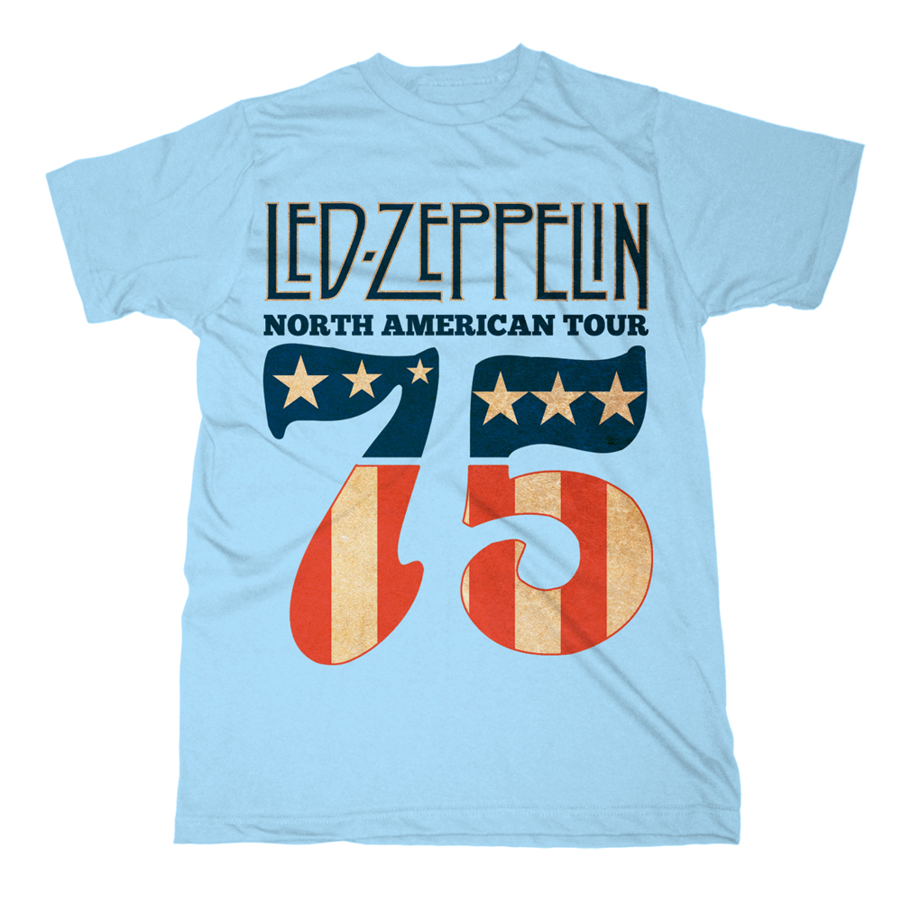 Led Zeppelin - 1975 North American Tour (Blue)