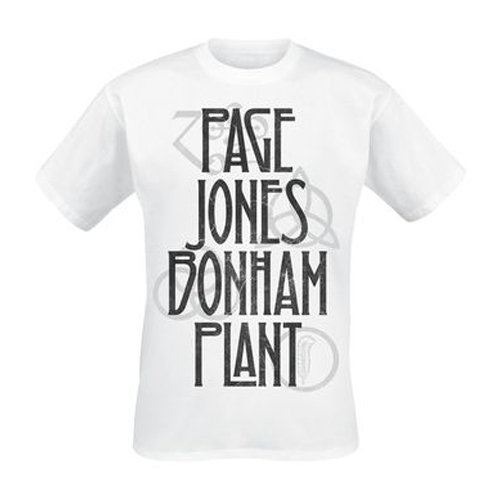 Led Zeppelin - Page Jones Bonham Plant (White)