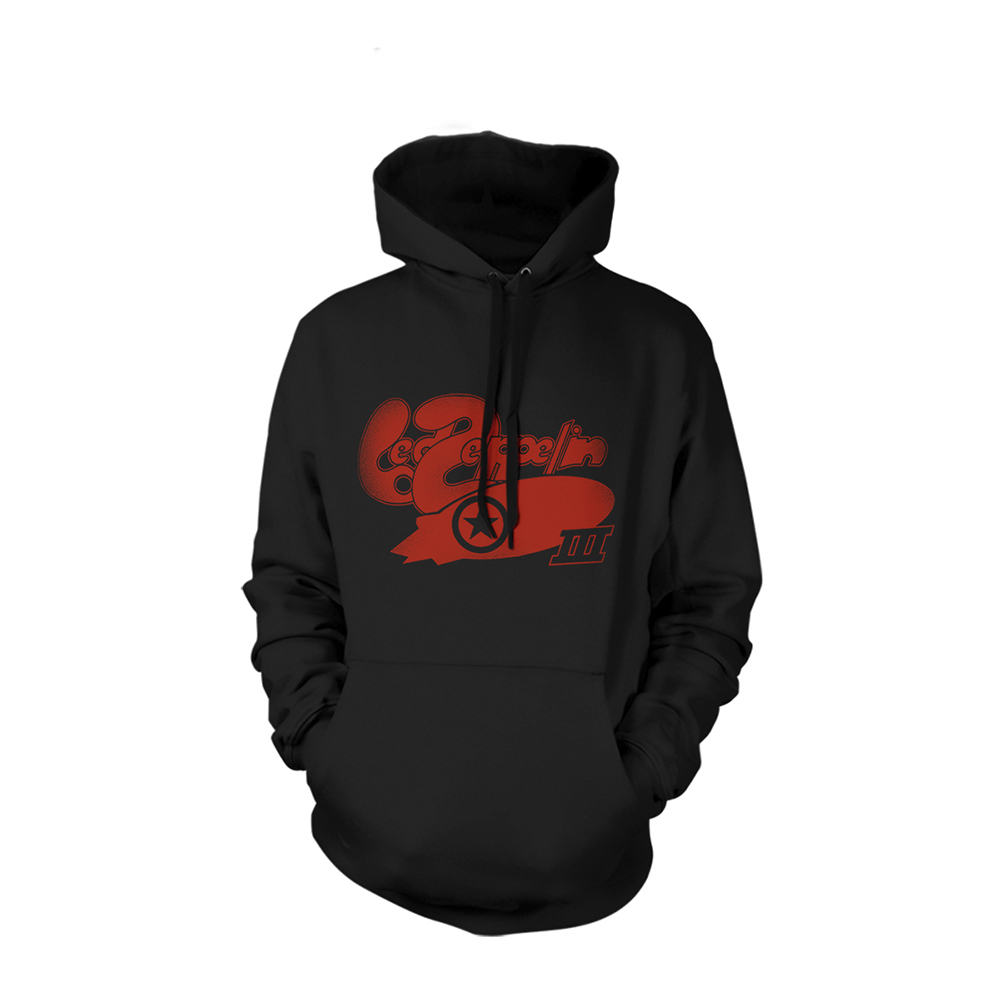 Led Zeppelin - LZ III Bubble Logo Black (Hoodie)