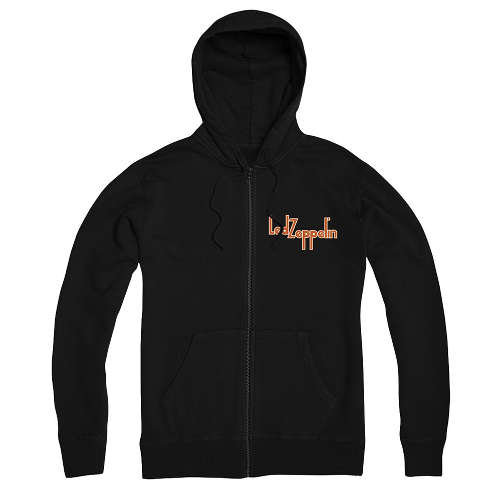 Led Zeppelin - Orange Circle (Black Zip Hoodie)
