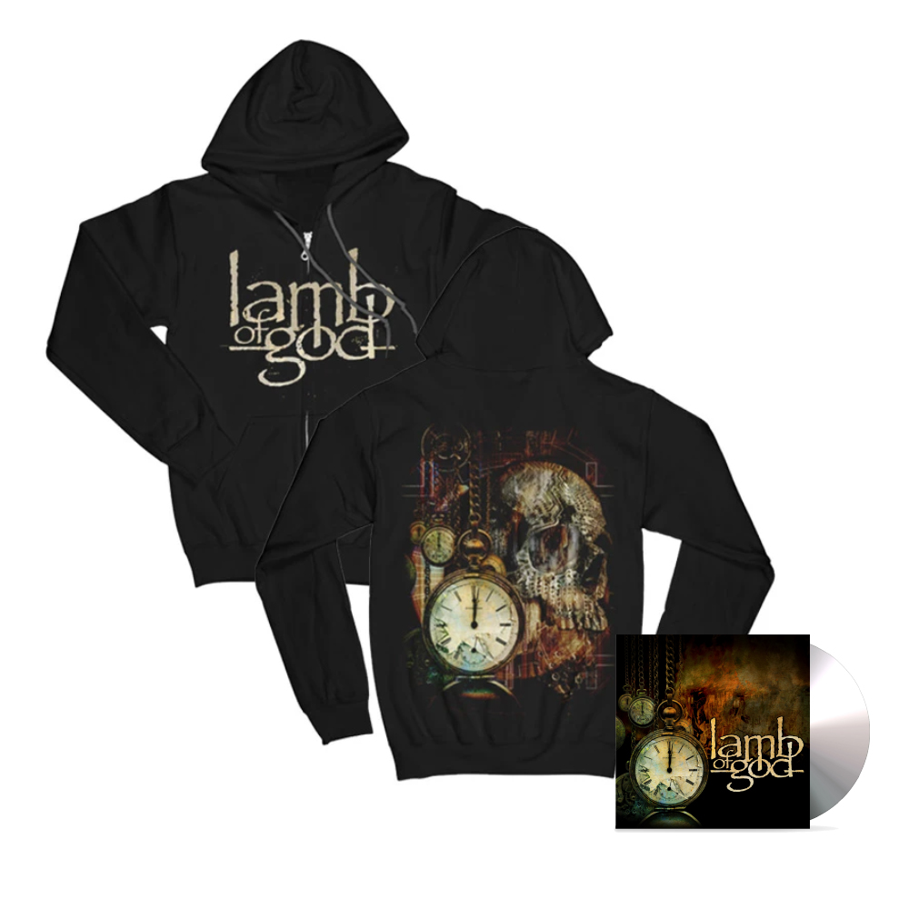 Lamb Of God - Album Hoodie and CD Bundle