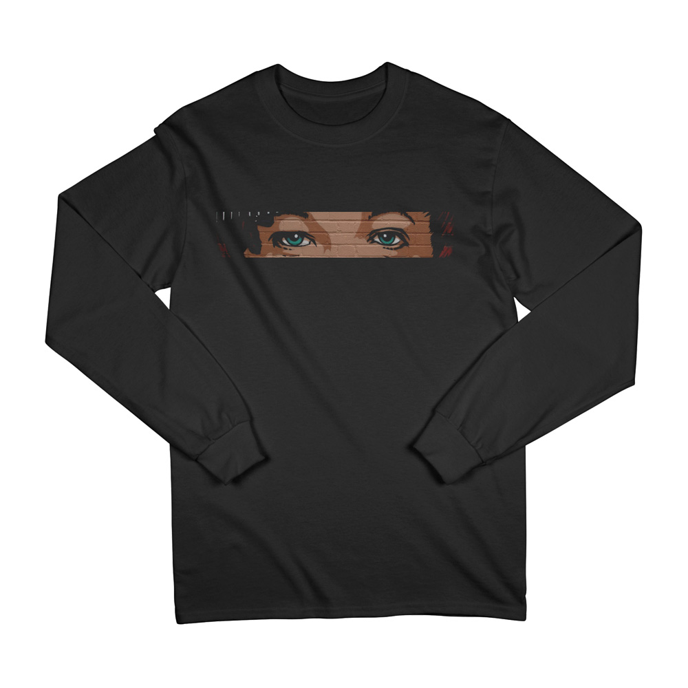 Louis Tomlinson - Mural Eyes Smiley Long Sleeve Tee