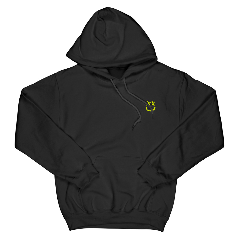 Louis Tomlinson - Neon Yellow Reverse Smiley Hoodie