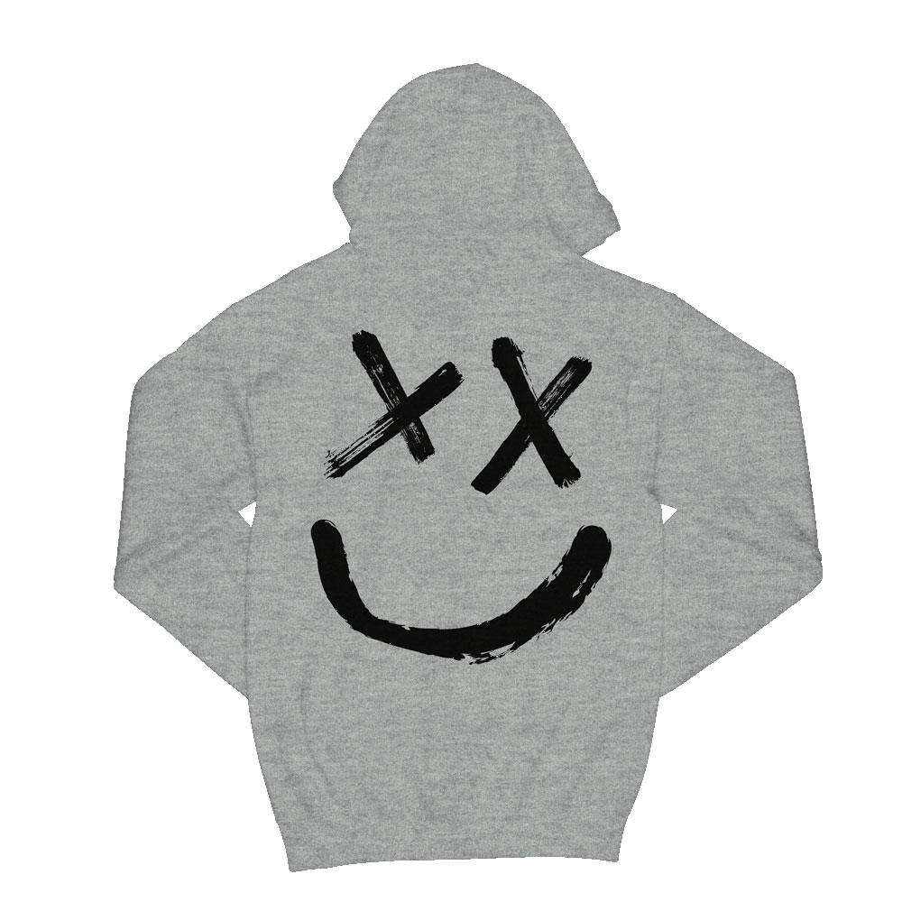 Louis Tomlinson - Reverse Smiley logo grey hoodie