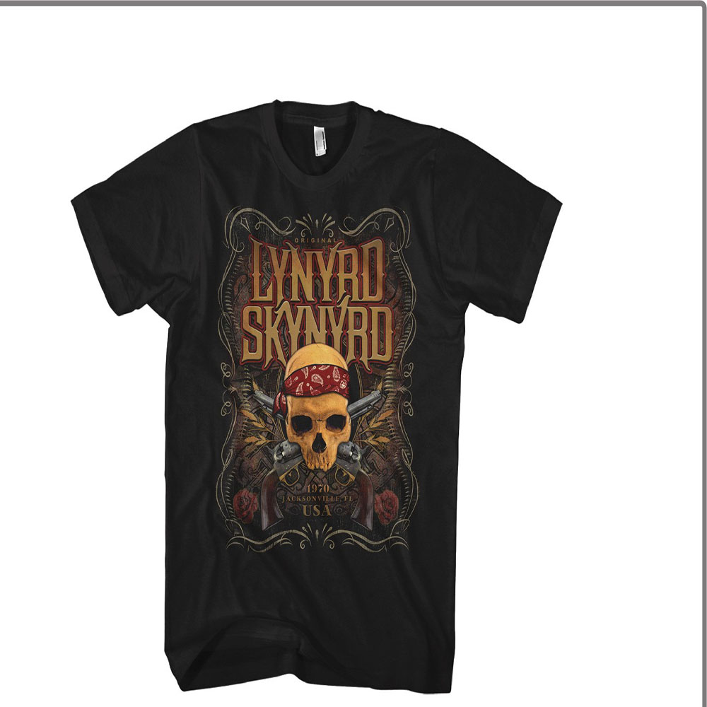 Lynyrd Skynyrd - Skull With Guns (Black)