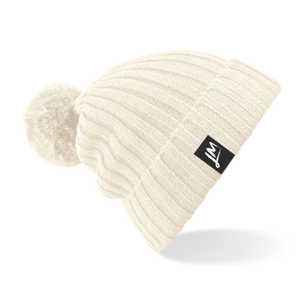 Little Mix - Off White Logo Pom Pom Hat