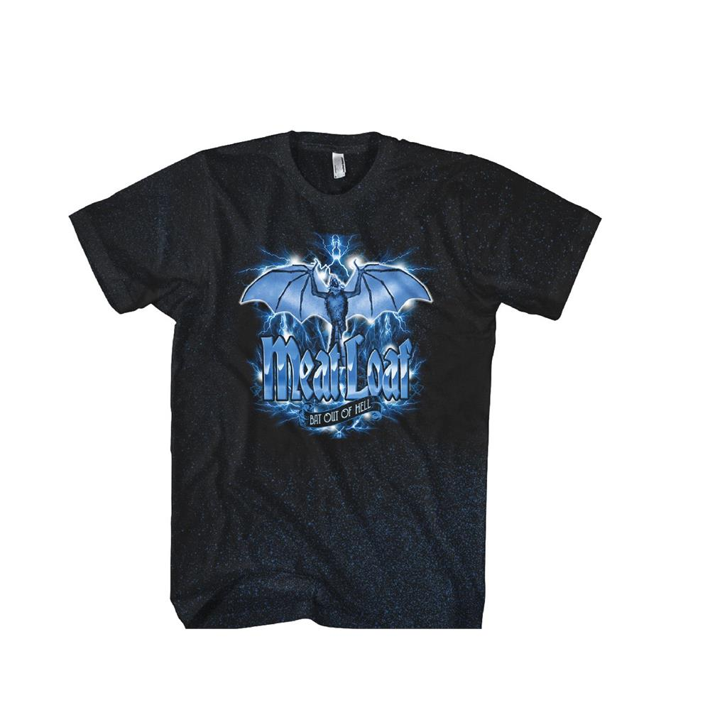 Meat Loaf - Blue Bat Logo (Black)