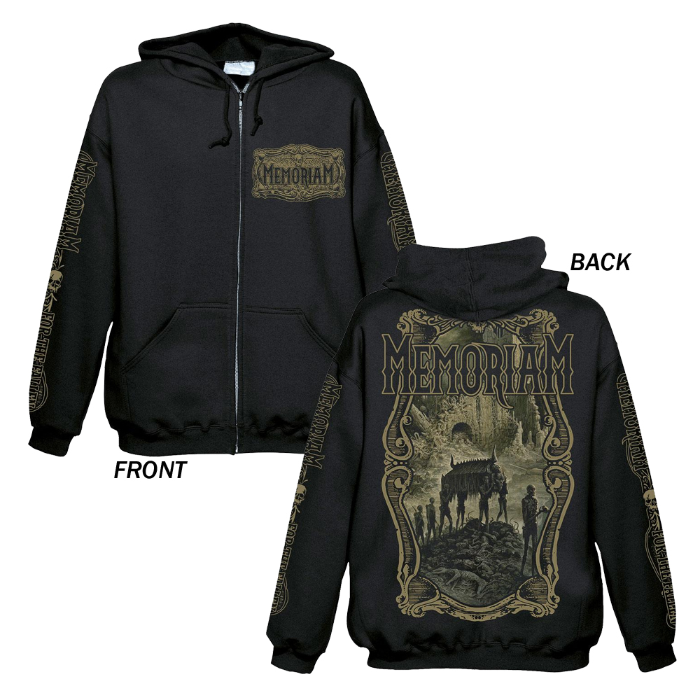 Memoriam - For The Fallen (Zip Hoodie)