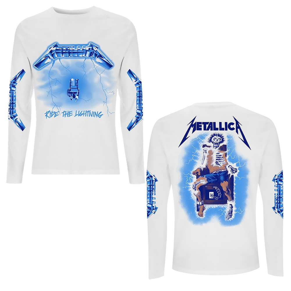 Metallica - Ride The Lightning (White Longsleeve)