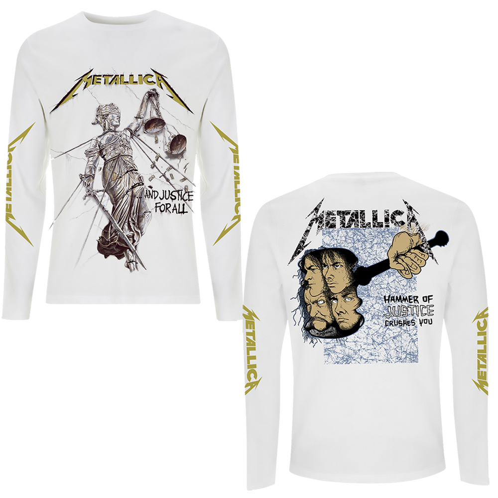 Metallica -  And Justice For All (White Longsleeve)