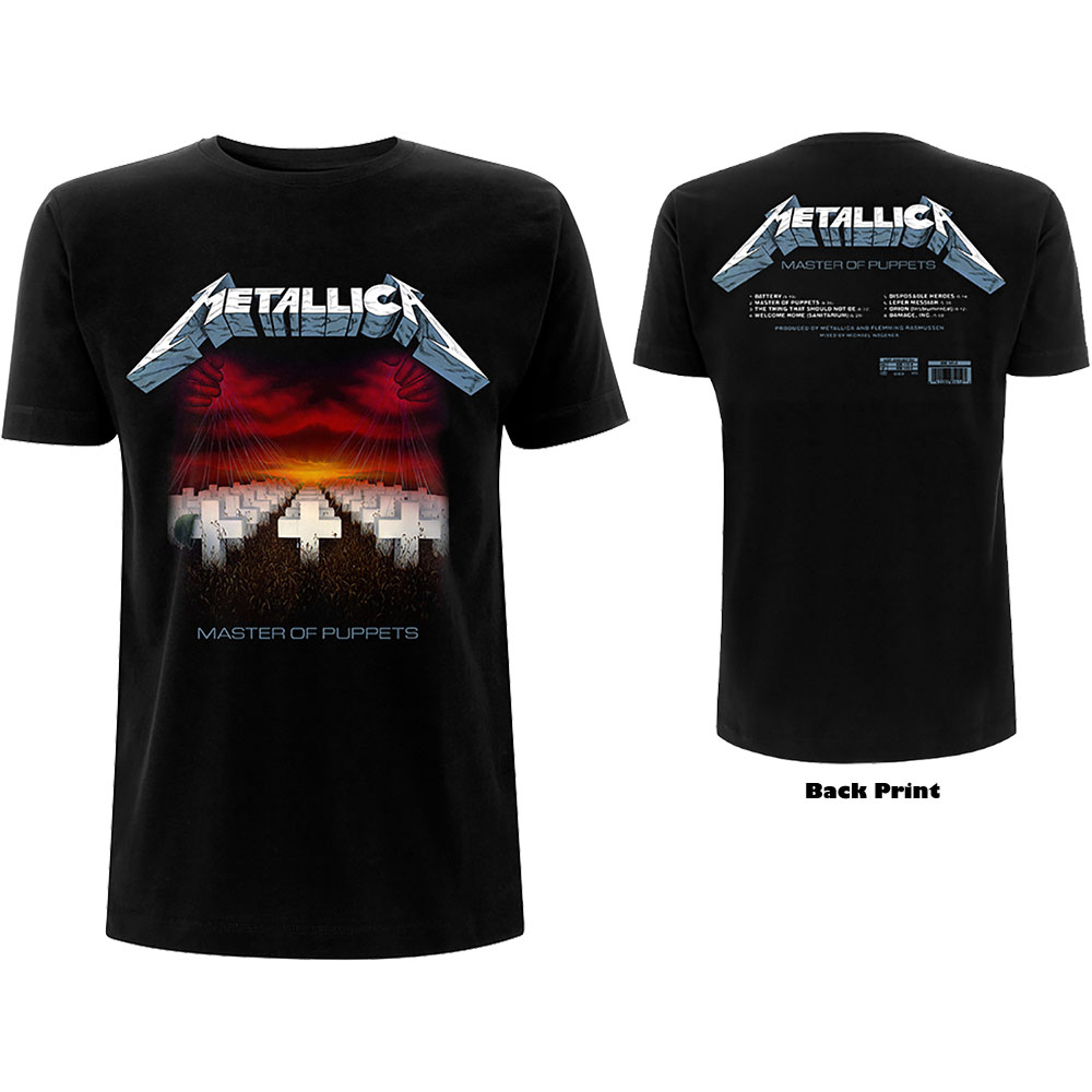 Metallica - Master of Puppets Tracks (Back Print)