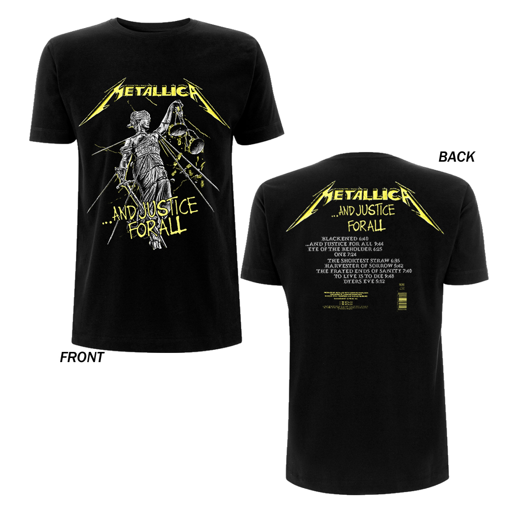 c697cff0e8 Metallica - And Justice For All Tracks (Black)