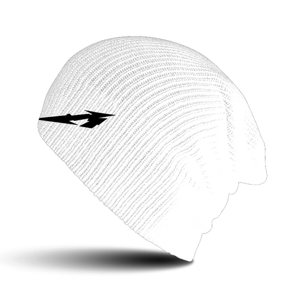 Metallica - Glitch M Circle White Beanie