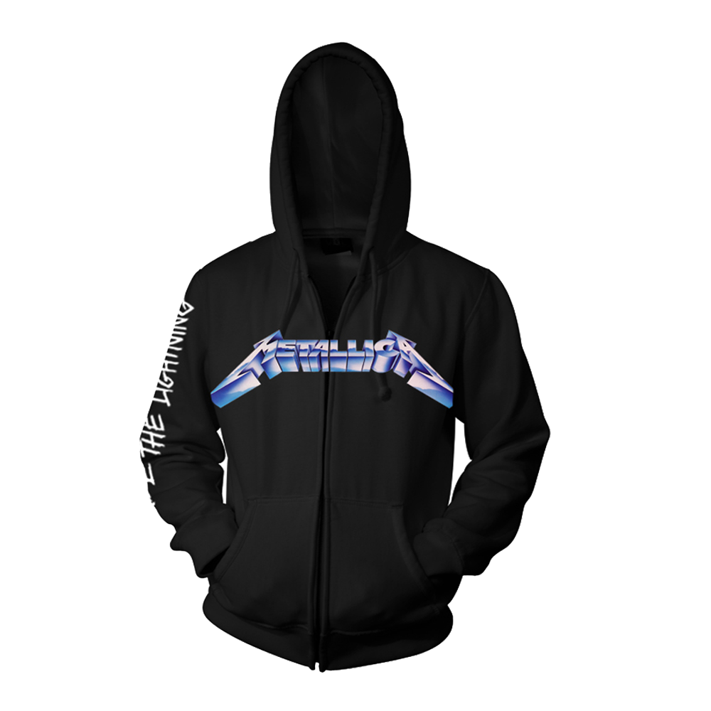 Metallica - Ride The Lightening Black Zip Hoodie