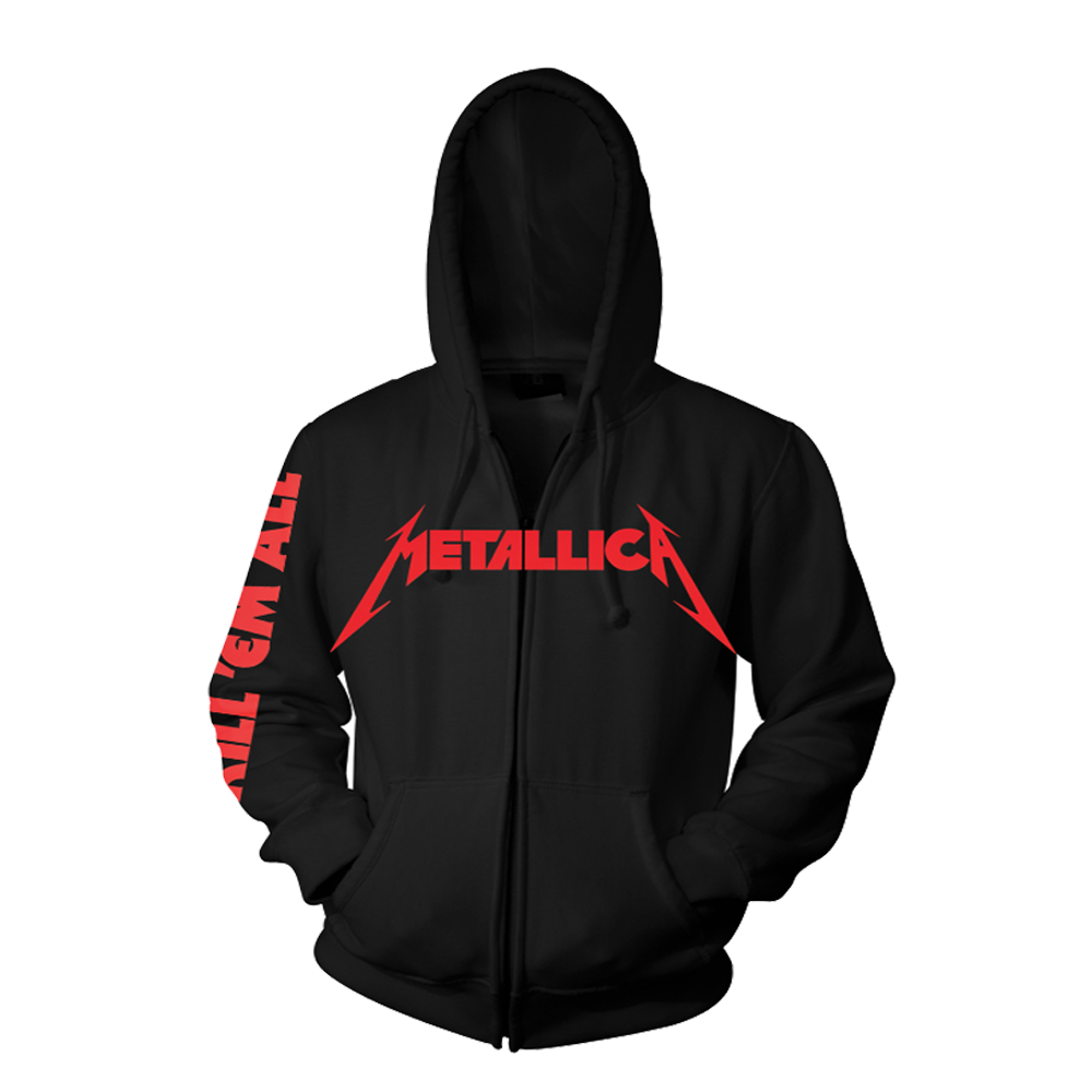 Metallica - Kill 'Em All Black Zip Hoodie