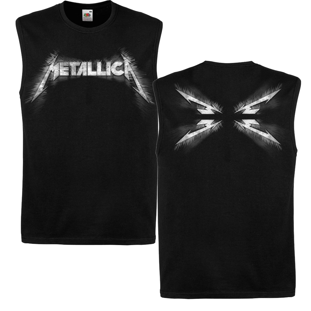 Metallica - Spiked Logo Black Tank Top