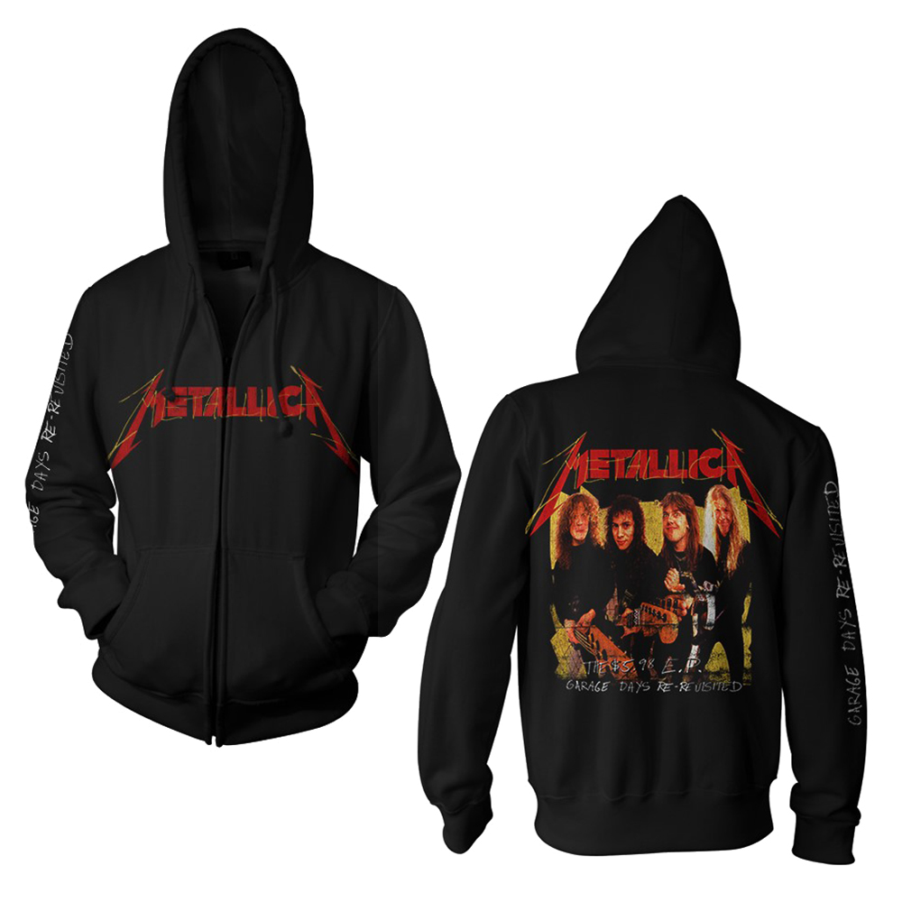 Metallica - Garage Photo Yellow (Black Zip Hood)