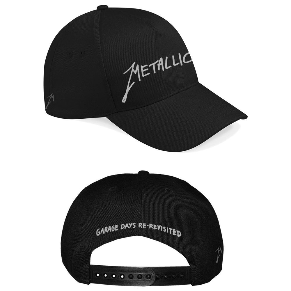 Metallica - Garage Silver Logo Black Cap