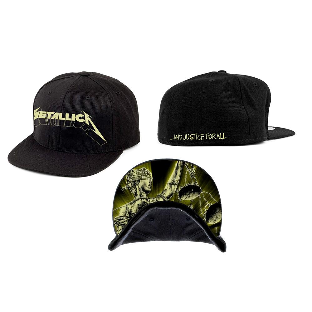0ec4e24390f Metallica - Justice Glow (Black Snapback Cap)
