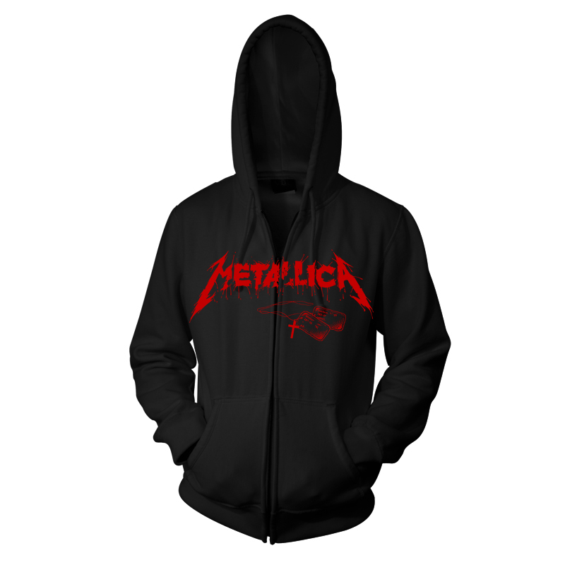 Metallica - One Cover (Black Zip Hoodie)