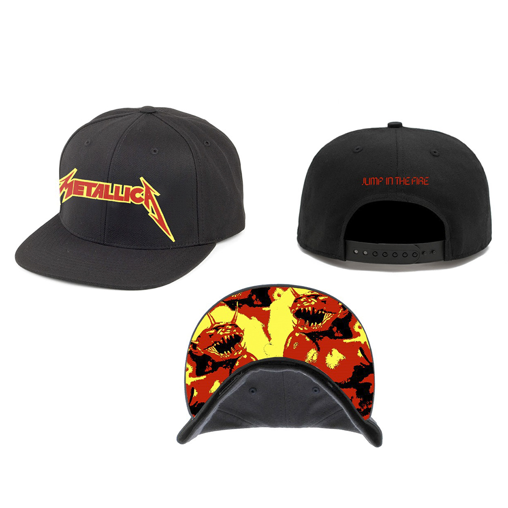 Metallica -  Jump In The Fire (Black Snapback Cap)