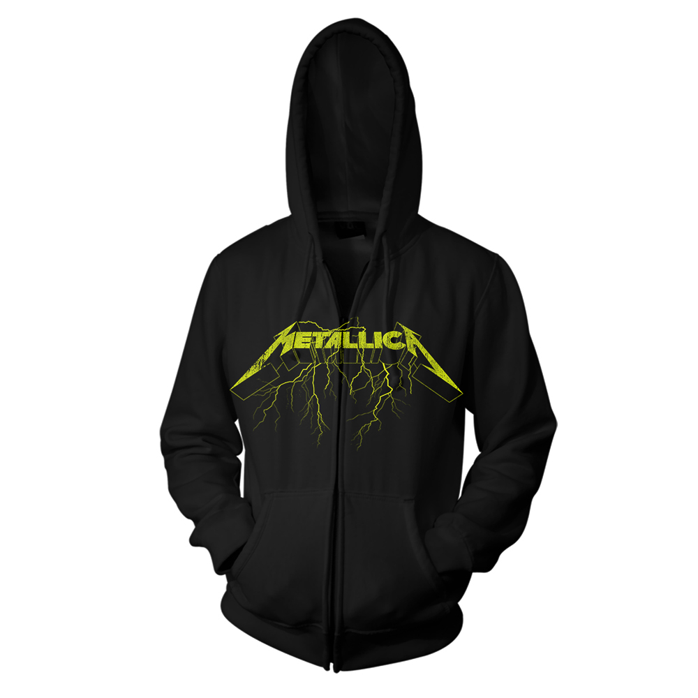 Metallica - Splatter Lightning (Black Zip Hoodie)