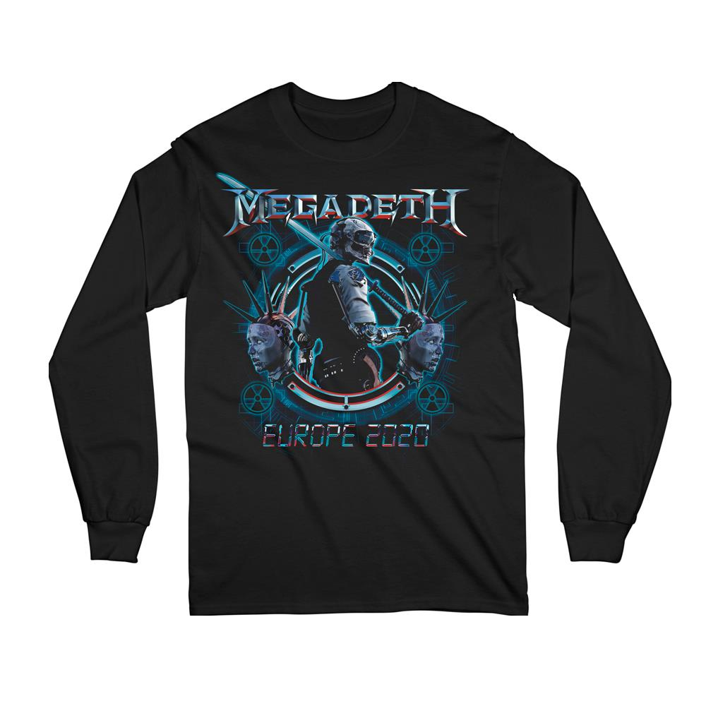 Megadeth GMS - Dystopia Europe 2020 Date Back Long Sleeved Tee