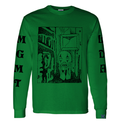 MGMT - Little Dark Age (Green Longsleeve T-Shirt)