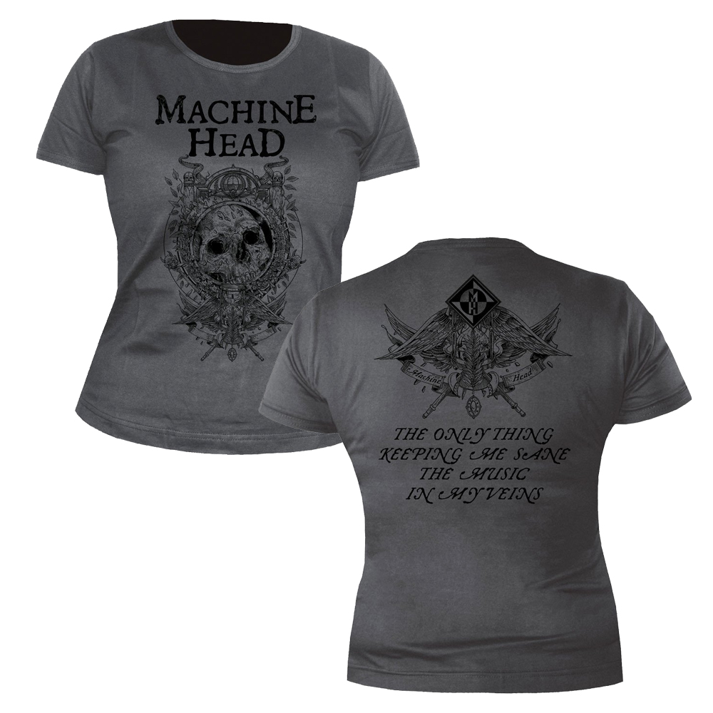 Machine Head - Clock (Grey) (Ladies)
