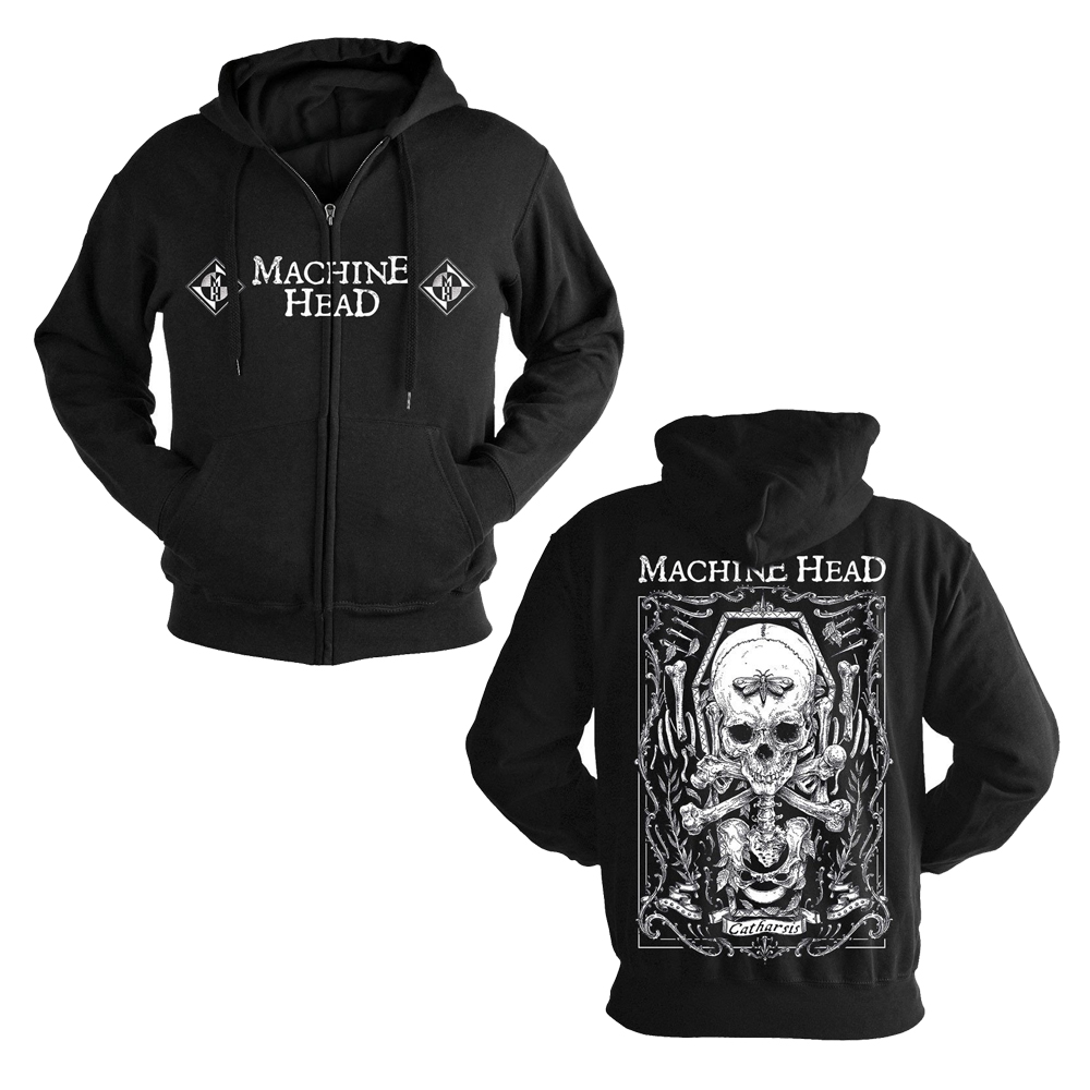 Machine Head - Moth (Zip Hoodie)